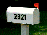 Easy to read address on homeowners mailbox.